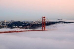 golden gate foggy