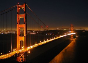 golden gate night time