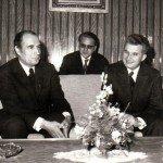 Foto Mitterand si Nicolae Ceausescu